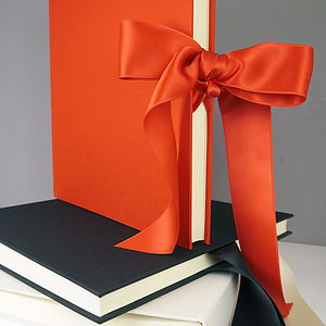 Linen Photo Album With Silk Satin Ribbon