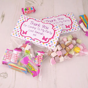 Personalised Party Bag Treat Bags