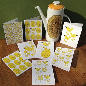 A Pack Of Easter Card Notelets With Stickers - writing