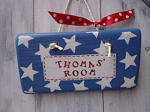 Personalised Door Sign - baby's room