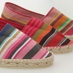 Striped Espadrilles   Three Colour Choices - women's