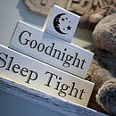 Goodnight, Sleep Tight Nursery Blocks
