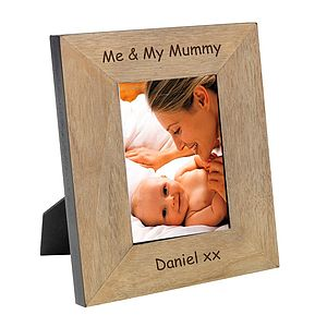 Personalsied Me And My Mummy Photo Frame