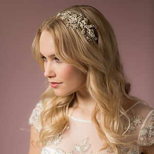Darcey Pearl Headband With Swarovski Crystals - hats, hairpieces & hair clips