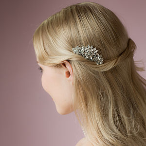Elizabeth Crystal Hair Comb - wedding jewellery