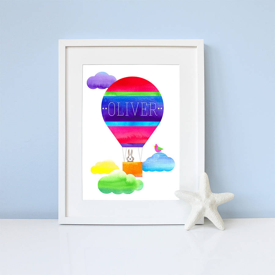 Personalised Up, Up And Away Print