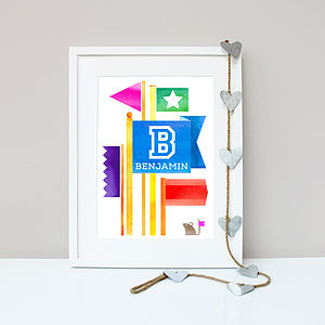 Personalised Flying Flags Print
