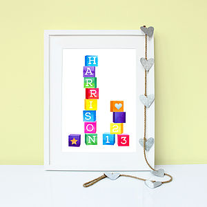 Personalised Baby's Building Blocks Print