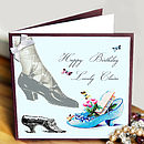 Vintage Shoes Birthday Card