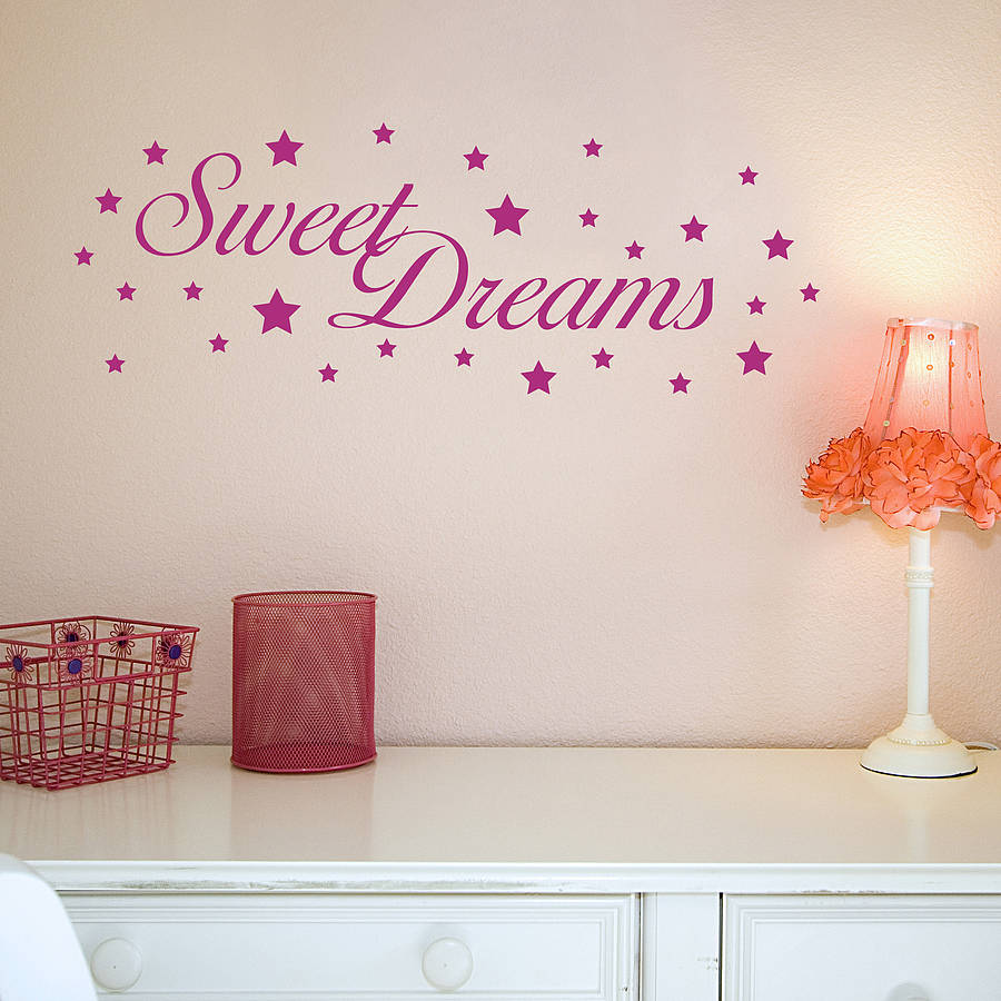 Bon 28+ [ Sweet Dreams Wall Sticker Art ] Sweet Dreams Baby Nursery Art Wall