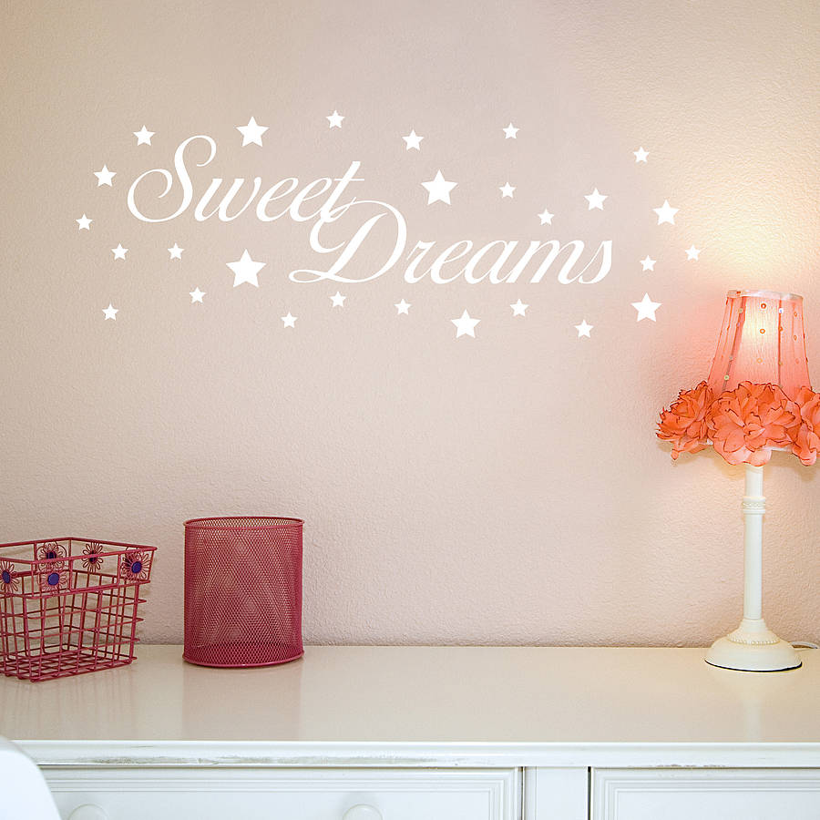 Sweet Dreams Wall Stickers By Nutmeg Notonthehighstreetcom