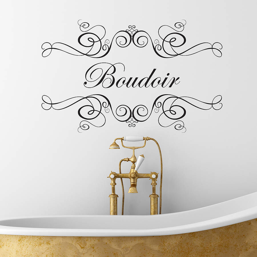 Boudoir Or Salle De Bain Wall Sticker By Nutmeg Notonthehighstreet Com