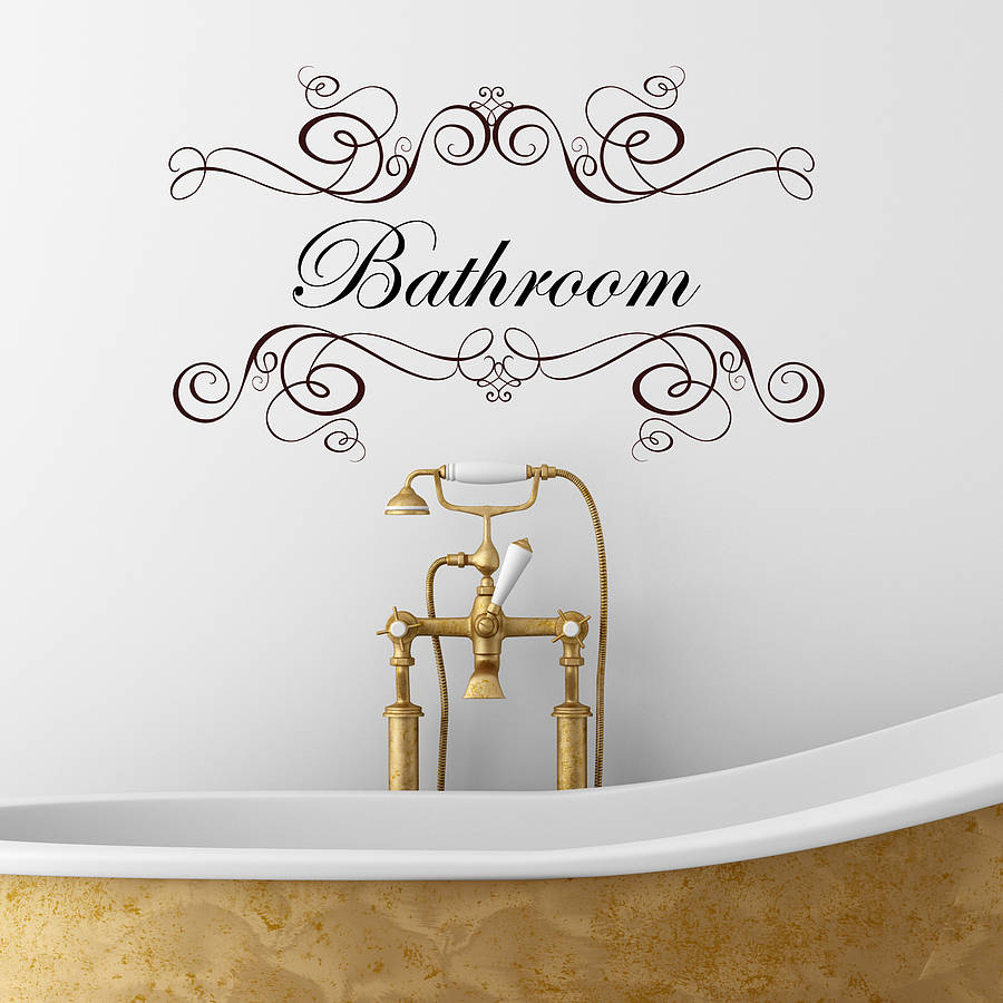 Boudoir or salle de bain wall sticker by nutmeg for Stickers meuble salle de bain