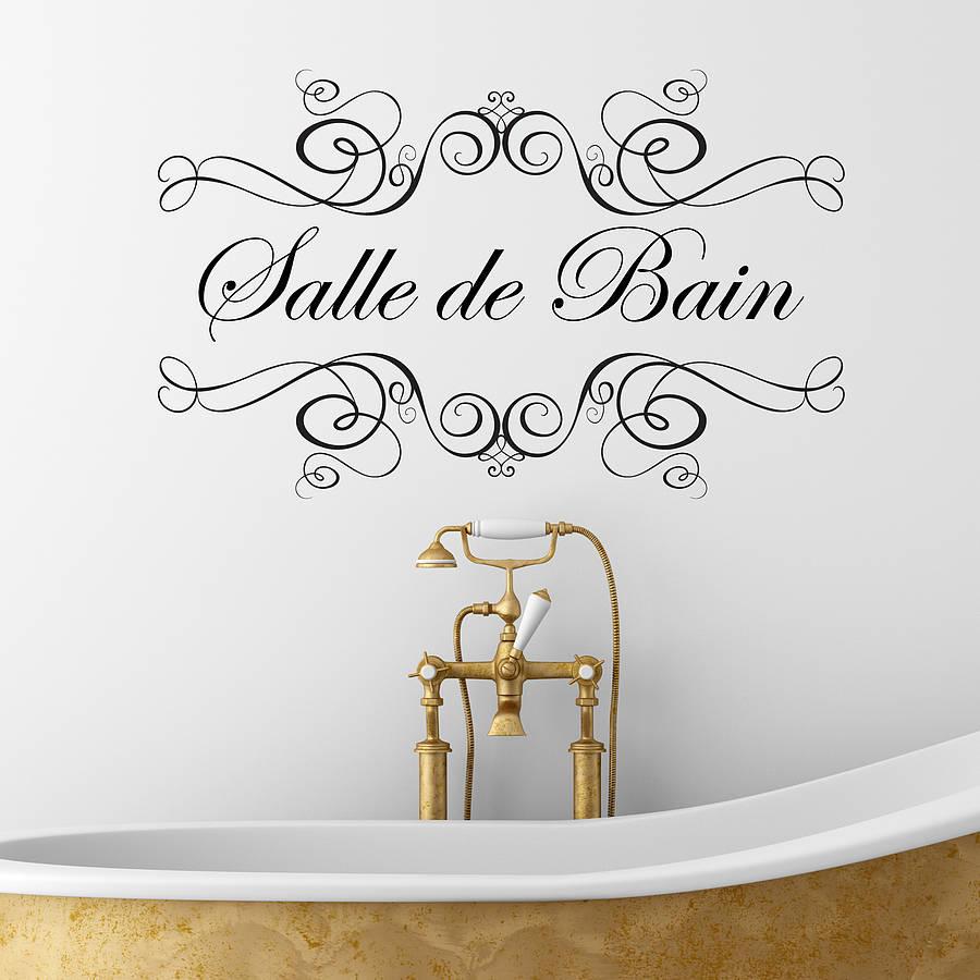 Boudoir Or Salle De Bain Wall Sticker By Nutmeg