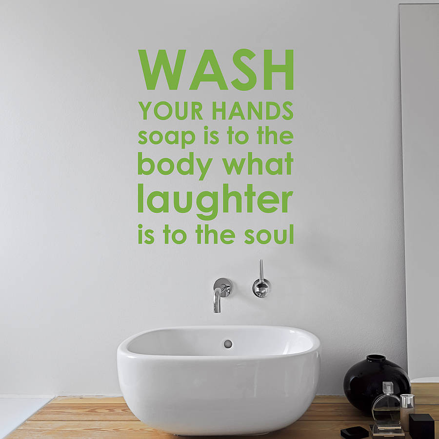 Merveilleux Bathroom Rules Wall Sticker