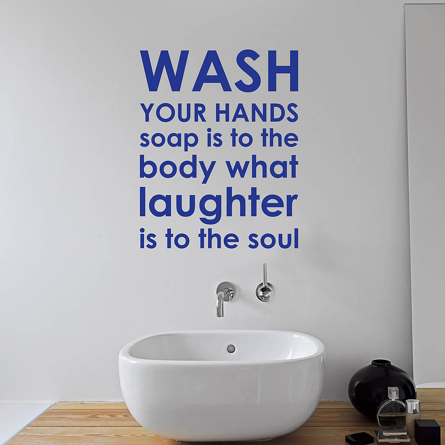 Bathroom Rules Wall Sticker By Nutmeg Wall Stickers