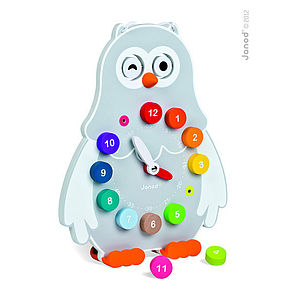 Owly Clock   Learn To Tell The Time - children's room