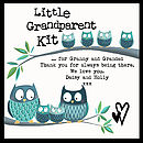 Little Grandparent Kit - detail of example personalised message