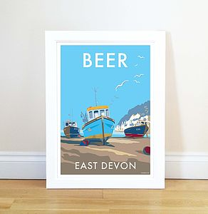Beer Vintage Style Seaside Poster