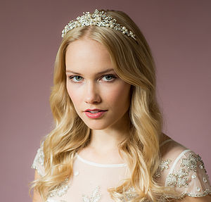Tess Crystal And Pearl Hairband