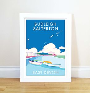 Budleigh Vintage Style Seaside Poster