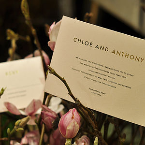 Rose And Gold Wedding Stationery