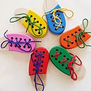 Lacing Shoe Montessori Toy