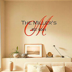 'Family Monogram' - wall stickers