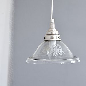 Glass And Tarnished Silver Ceiling Light - ceiling lights