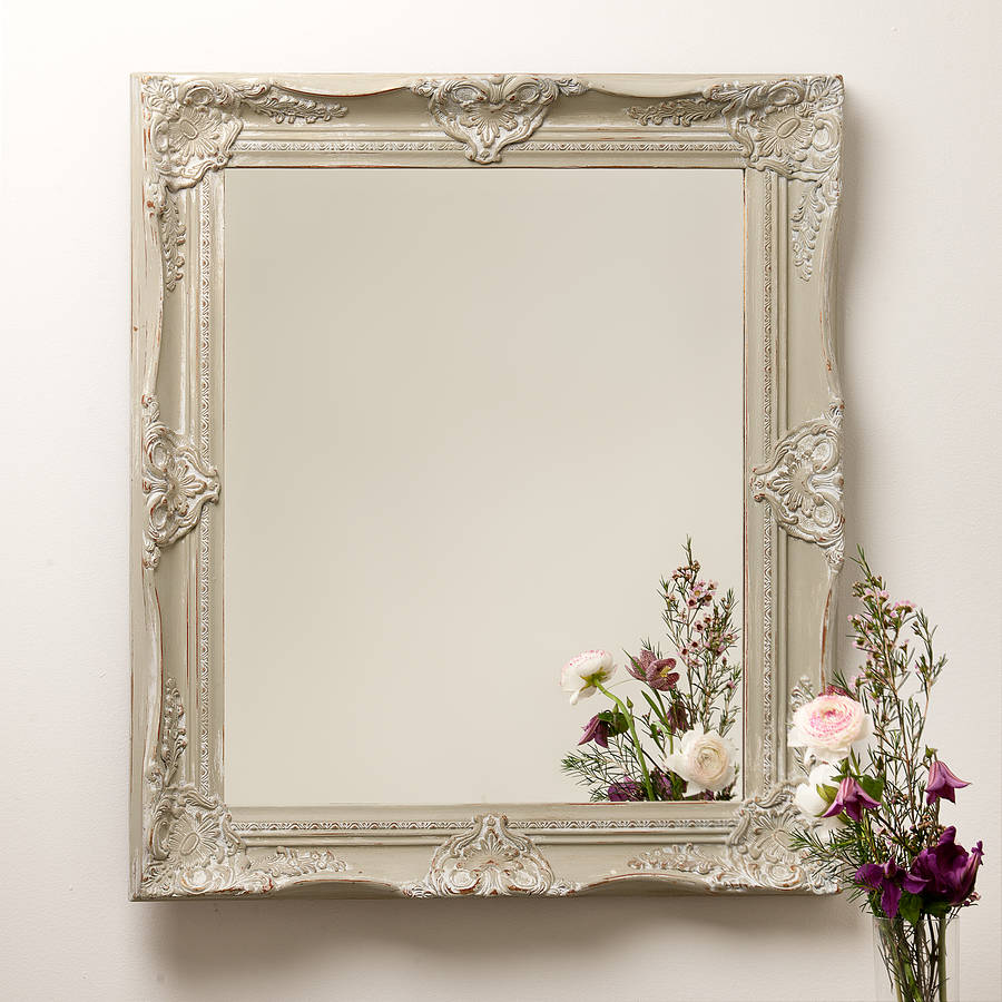hand painted ornate french mirror by hand crafted mirrors