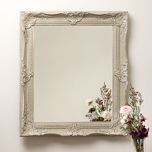 Hand Painted Ornate French Mirror - mirrors