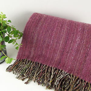 'Heather' Irish Tweed Throw