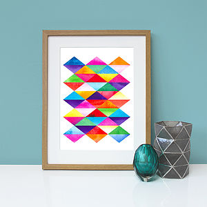 Triangle Tile Graphic Wall Art Print - graphic art prints