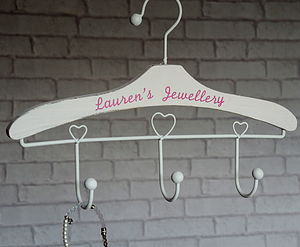 Personalised Jewellery Hanger Hook - home decorating