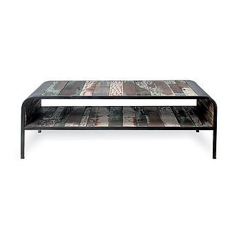 Upcycled Retro Coffee Table With Shelf