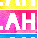 'Blah Blah Blah' Graphic Wall Art Print - detail