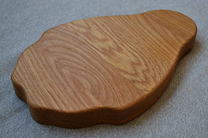 Personalised Oak Penguin Chopping Board