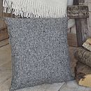 'Pepper And Salt' Tweed And Linen Cushion