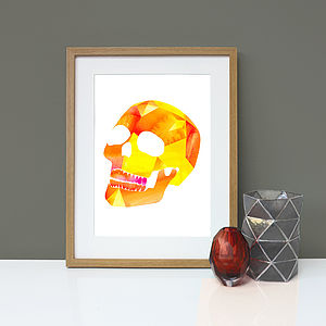 Skull Graphic Wall Art Print