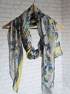 Butterfly Design Scarf - hats, scarves & gloves