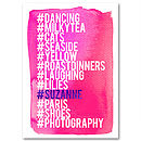 Personalised Hashtag Love List Wall Art Pink