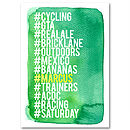 Personalised Hashtag Love List Wall Art Green