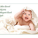 Personalised Christening Photo Canvas