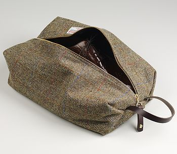 Gents Harris Tweed Shoe Bag