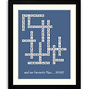 Memory Lane Destination Framed Print X Word