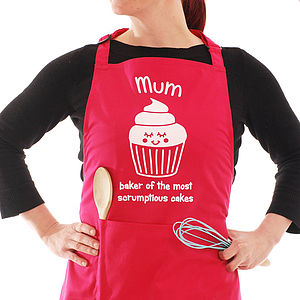Personalised Cupcake Hot Pink Apron