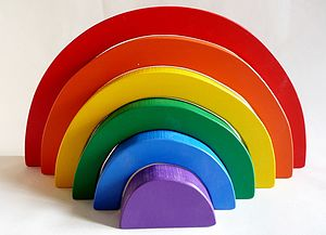 Rainbow Stacking Puzzle - rainbows