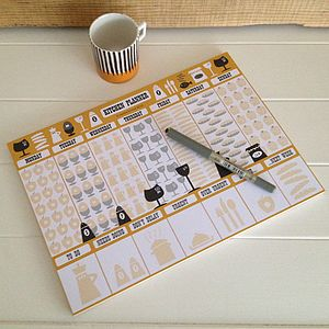 Tear Off Weekly Kitchen Planner