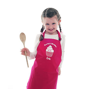 Child's Personalised Cupcake Apron - cooking & food preparation