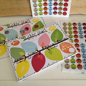 Weekly Bug Behaviour Chart With Stickers - diaries & calendars
